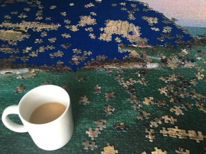 Coffee and a puzzle. Two things Mia and I enjoyed together frequently.